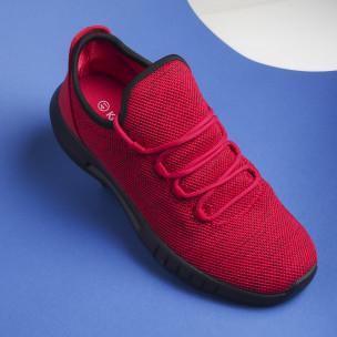 Леки мъжки маратонки червен меланж 2
