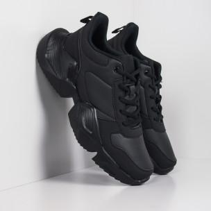 Extra Chunky мъжки леки маратонки в черно