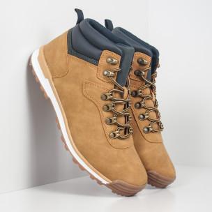 Мъжки обувки камел с акцент тип Hiker