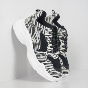 Chunky дамски маратонки зебра мотив