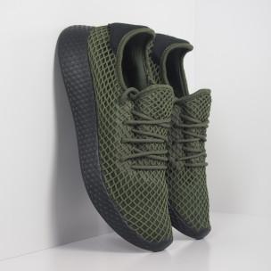Зелени мъжки маратонки Mesh черна пета  2