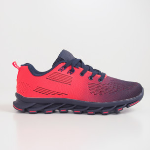 Синьо-оранжеви маратонки с релефна подметка 2