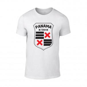 Мъжка бяла тениска Panama
