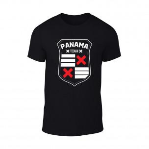 Мъжка черна тениска Panama
