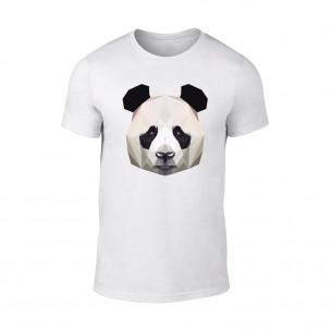 Мъжка бяла тениска Panda