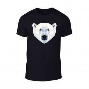 Мъжка черна тениска Polar Bear