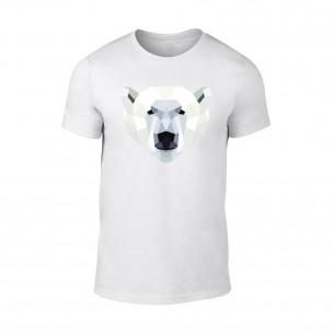 Мъжка бяла тениска Polar Bear