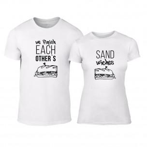 Тениски за двойки Sandwiches бели