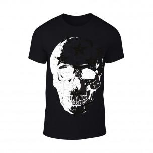 Мъжка черна тениска Skull
