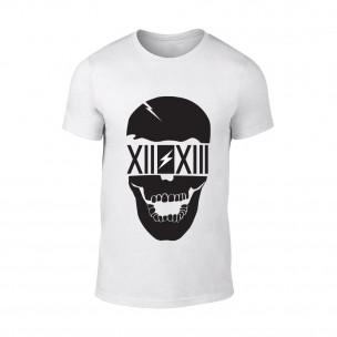 Мъжка бяла тениска Skull