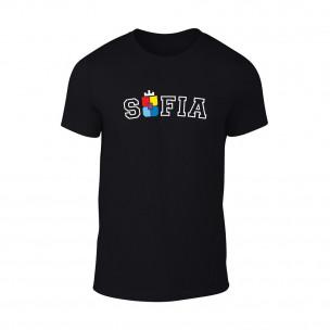Мъжка черна тениска Sofia