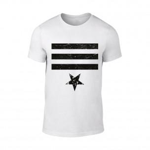 Мъжка бяла тениска Star 3 TEEMAN
