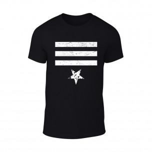 Мъжка черна тениска Star 3 TEEMAN