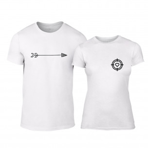 Тениски за двойки Target бели TEEMAN