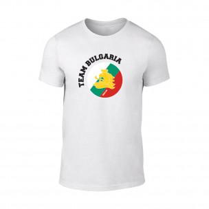 Мъжка бяла тениска Team Bulgaria
