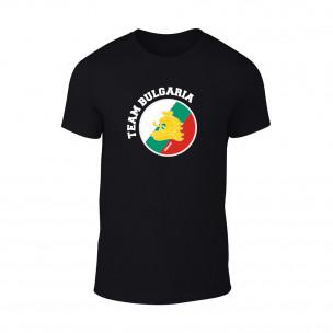 Мъжка черна тениска Team Bulgaria