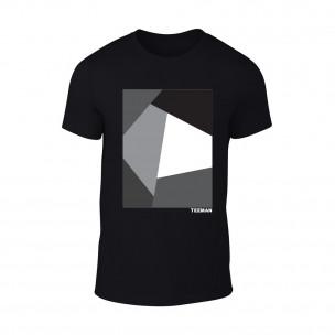 Мъжка черна тениска Teeman