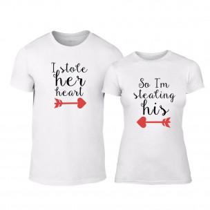 Тениски за двойки Stolen Hearts бели