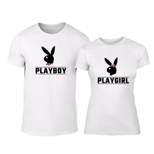 Тениски за двойки Playboy бели 2