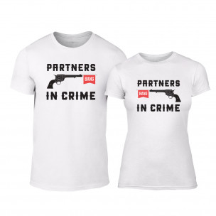 Тениски за двойки Partners in Crime бели