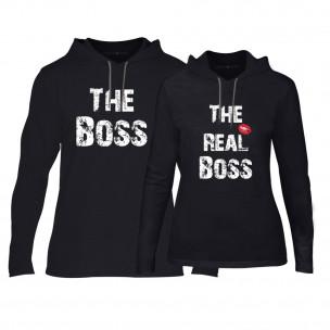 Суичъри за двойки The Boss The Real Boss в черно