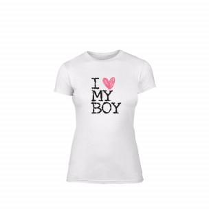 Дамска тениска Love My Boy, размер XL