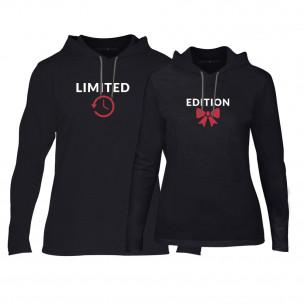Суичъри за двойки Limited Edition в черно