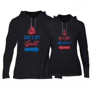 Суичъри за двойки Sail Anchor в черно