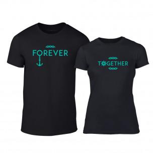 Тениски за двойки Forever Together черни