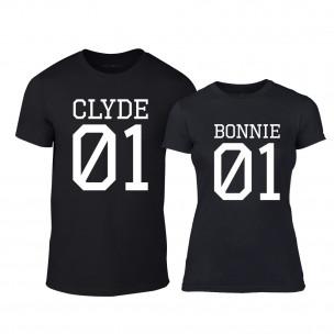 Тениски за двойки Bonnie 01 & Clyde 01 черни
