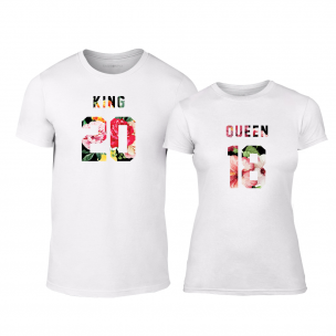 Тениски за двойки King & Queen 2018 бели