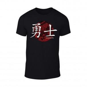 Мъжка черна тениска Warrior