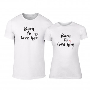 Тениски за двойки Born To Love бели