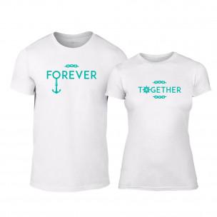 Тениски за двойки Forever Together бели