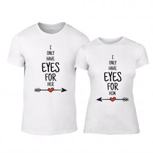 Тениски за двойки Eyes For You бели