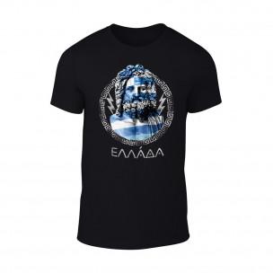Мъжка черна тениска Zeus