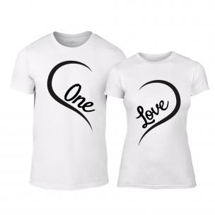Тениски за двойки One Love бели