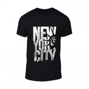 Мъжка черна тениска New York