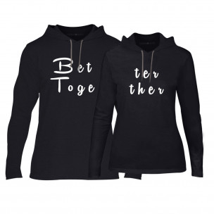 Суичъри за двойки Better Toghether в черно