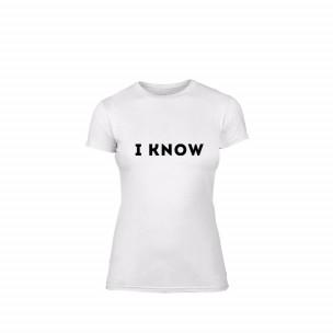Дамска тениска I know, размер XL