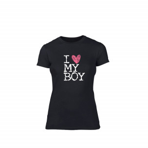 Дамска тениска  Love My Boy размер S