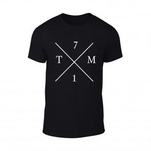 Мъжка черна тениска TM71