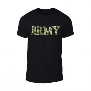 Мъжка черна тениска Army