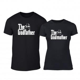 Тениски за двойки Godfather & Godmother черни