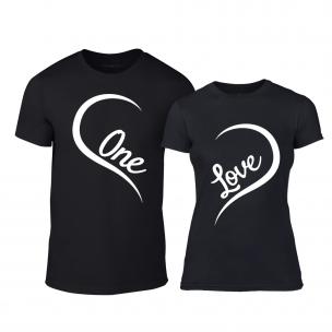 Тениски за двойки One Love черни