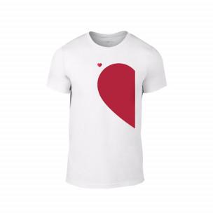 Мъжка тениска Half Heart, размер S