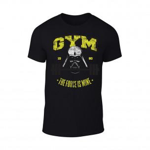 Мъжка черна тениска Gym