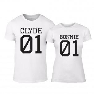 Тениски за двойки Bonnie 01 & Clyde 01 бели