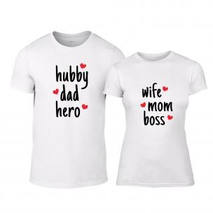 Тениски за двойки Hero & Boss бели