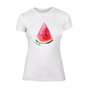 Дамска бяла тениска Watermelon